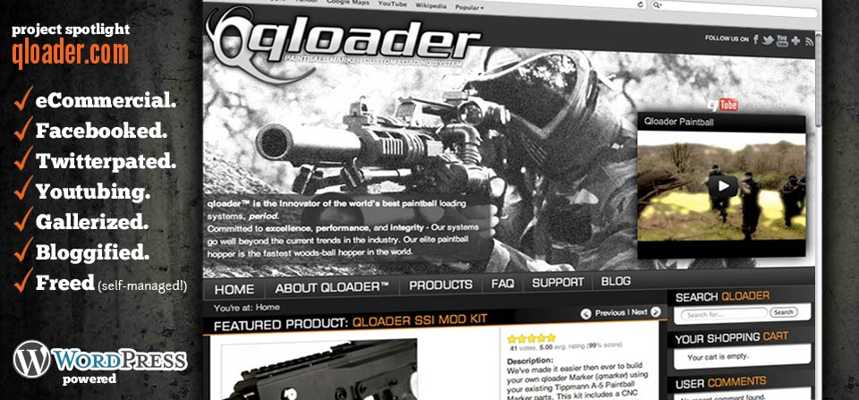 GRAPHICpilot.com, Redding, California Web Designer, Created the latest version of qloader.com